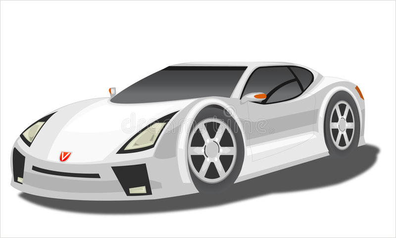 Prototypauto lizenzfreie abbildung