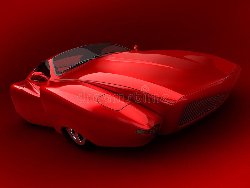 Prototype car. 3d rendered car prototype vector illustration