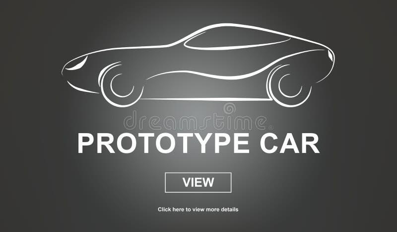 Prototype car concept vector illustration