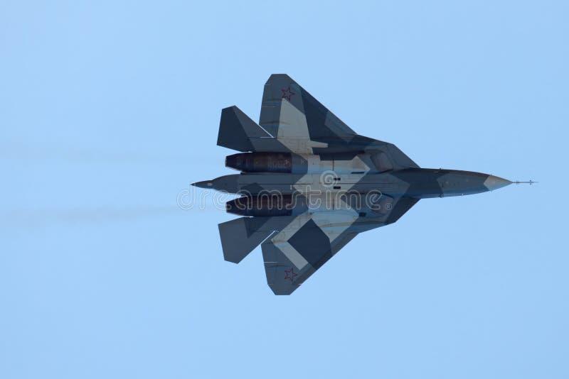 Prototype de Sukhoi PAK fa T-50 images stock