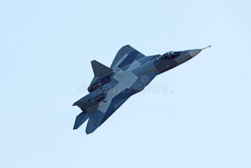 Prototype de Sukhoi PAK fa T-50, première vue images stock