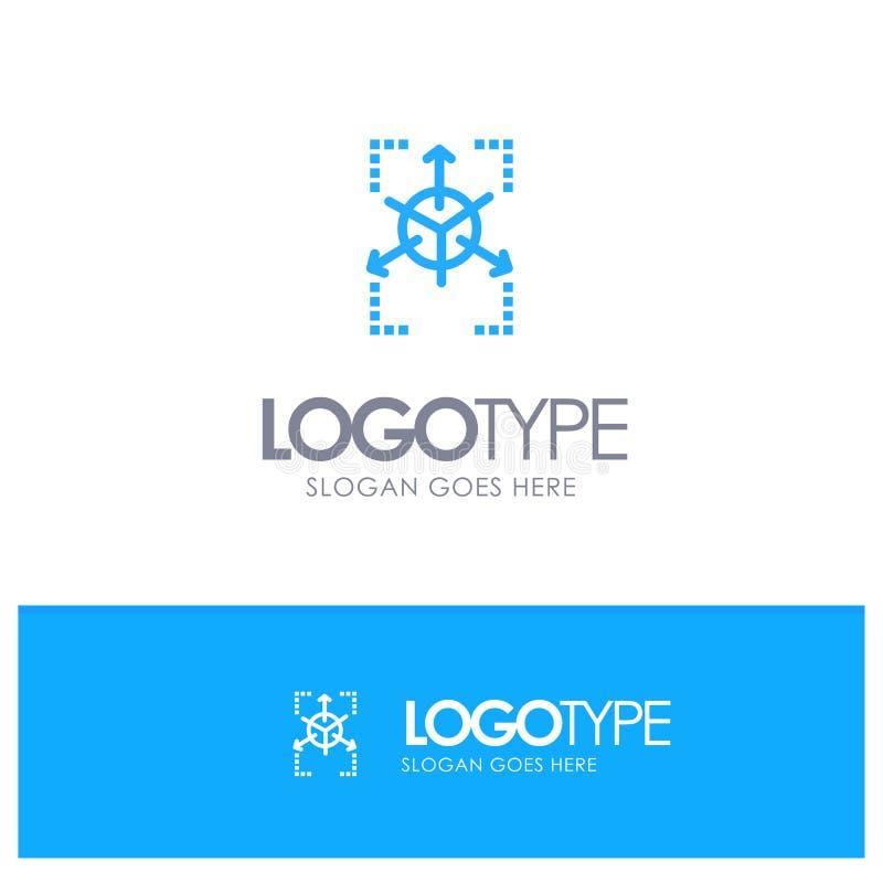Prototype, Grid, Database, Chart Blue Logo Line Style royalty free illustration