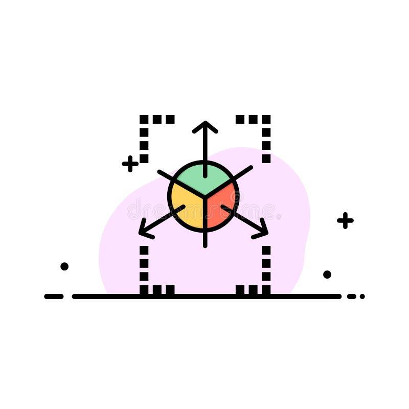 Prototype, Grid, Database, Chart Business Logo Template. Flat Color vector illustration