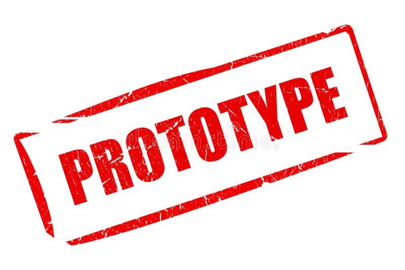 Prototype stamp. Isolated on white background stock illustration