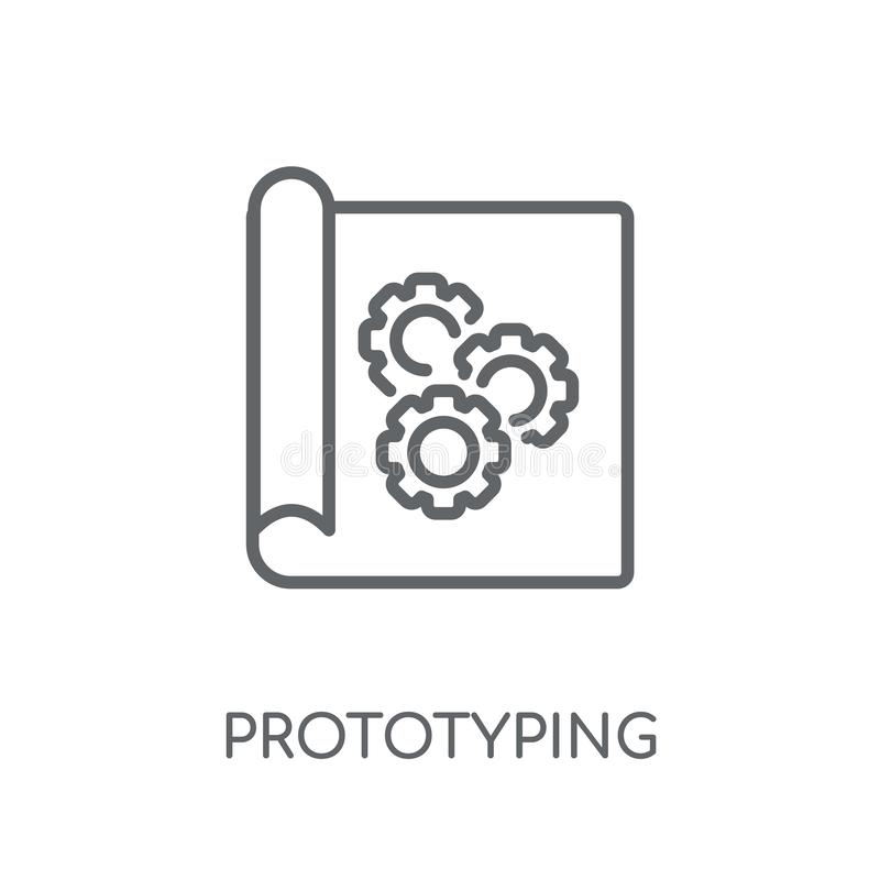 Prototyping linear icon. Modern outline prototyping logo concept. On white background from General collection. Suitable for use on web apps, mobile apps and royalty free illustration