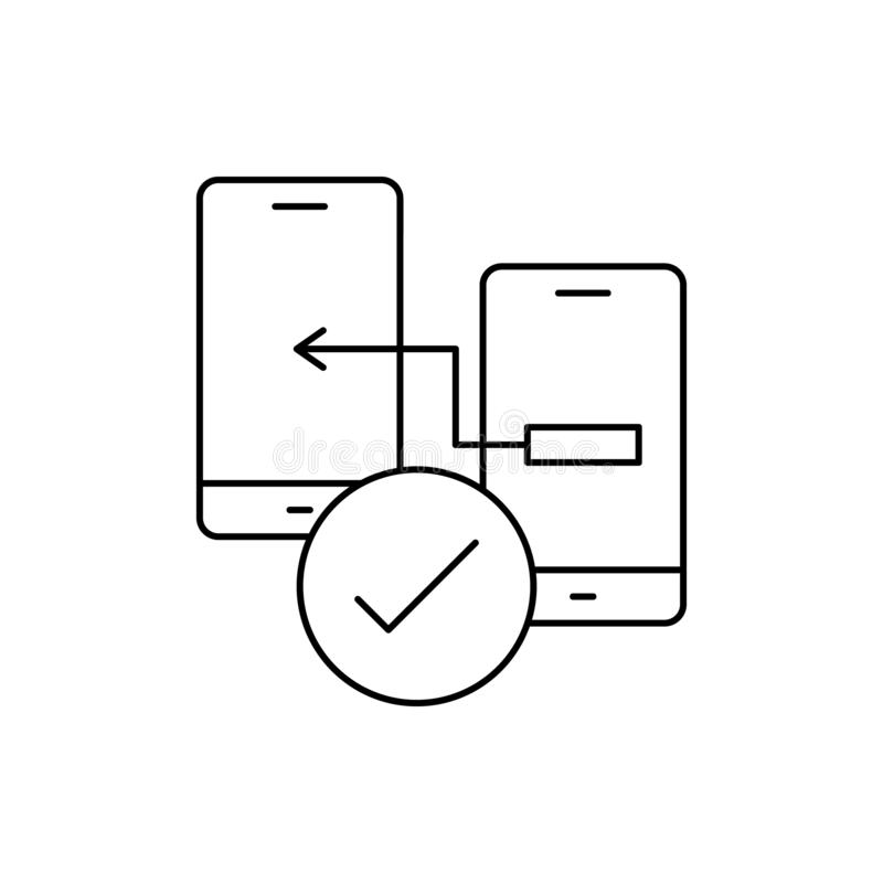 Prototyping testing smartphones icon. Element of user experience icon. On white background royalty free illustration