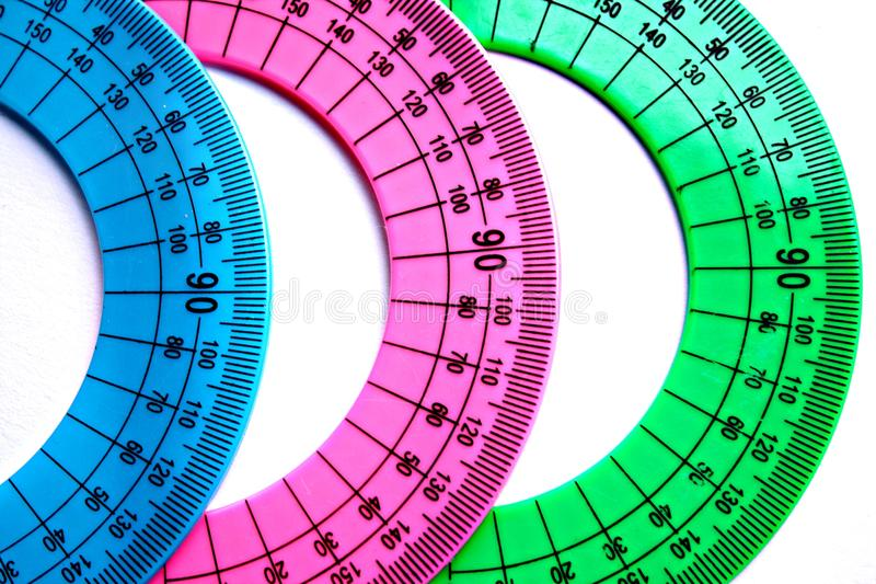 Download Protractor. stock image. Image of group, angle, protractor - 12414445