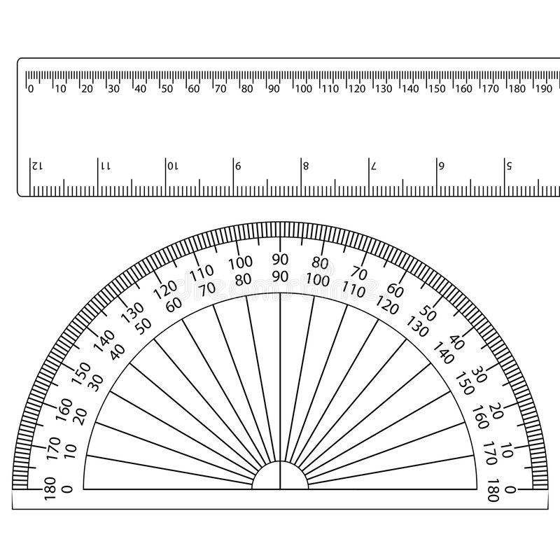 Free Protractor+ruler Royalty Free Stock Photo - 6531805