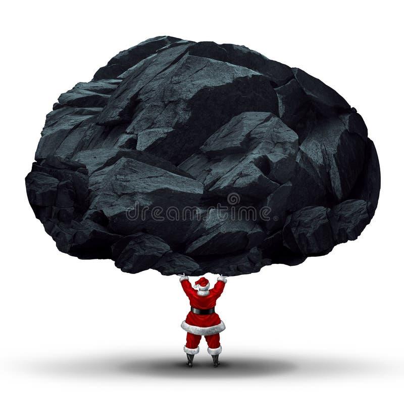 Protuberância do símbolo de carvão ilustração royalty free