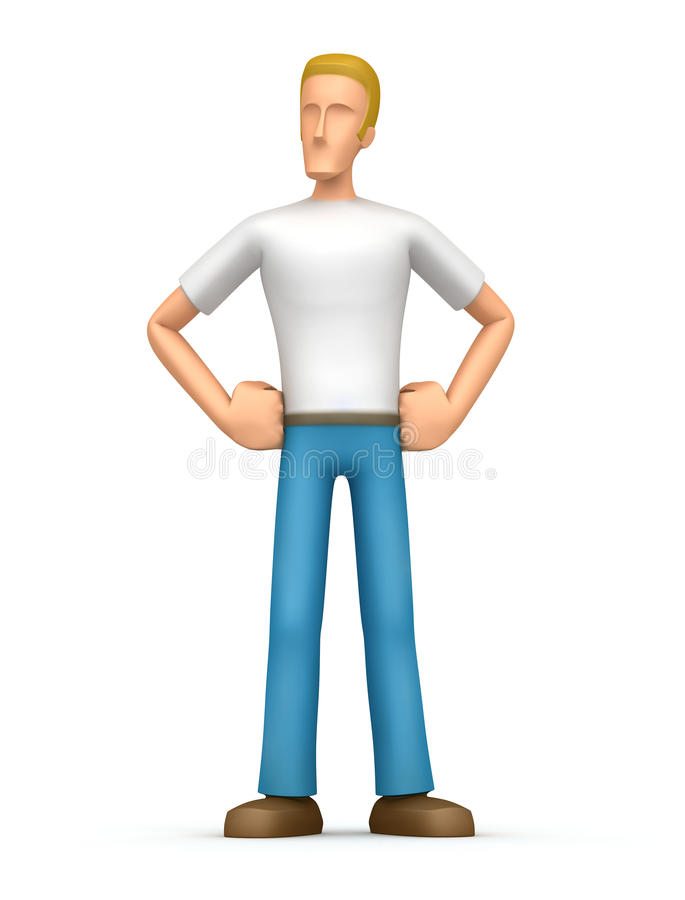 Download Proud casual man stock illustration. Image of figure - 13225083