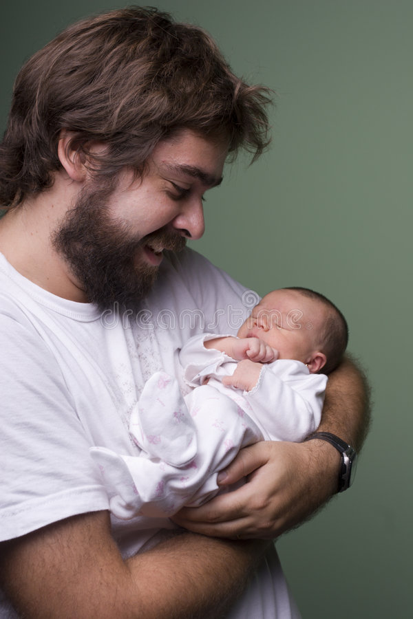 Proud father royalty free stock image