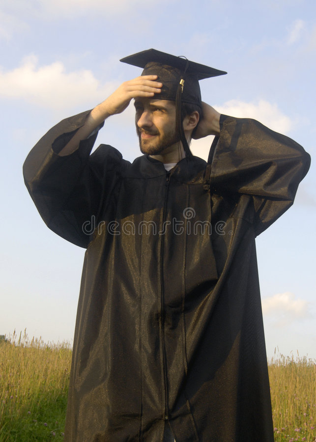 Proud graduate stock photos