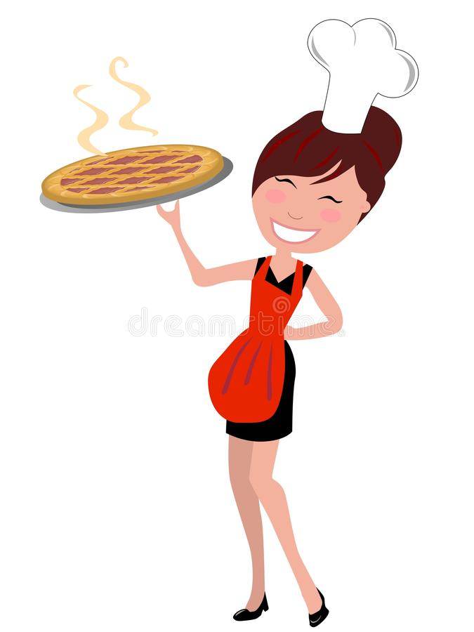 Download Proud Happy Housewife Holding Cake Royalty Free Stock Images - Image: 22780119