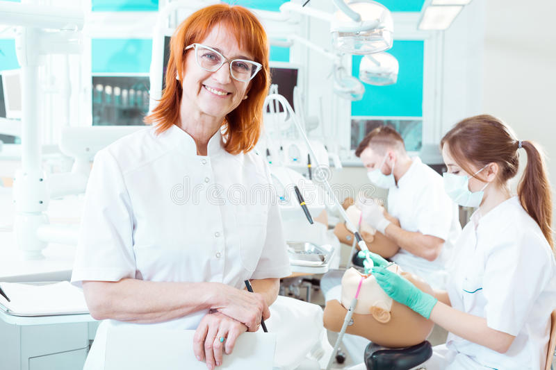 Proud of her students royalty free stock photo