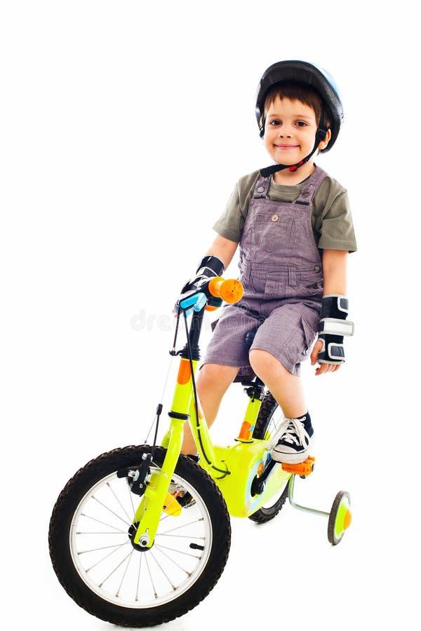 Proud Little Biker Royalty Free Stock Image
