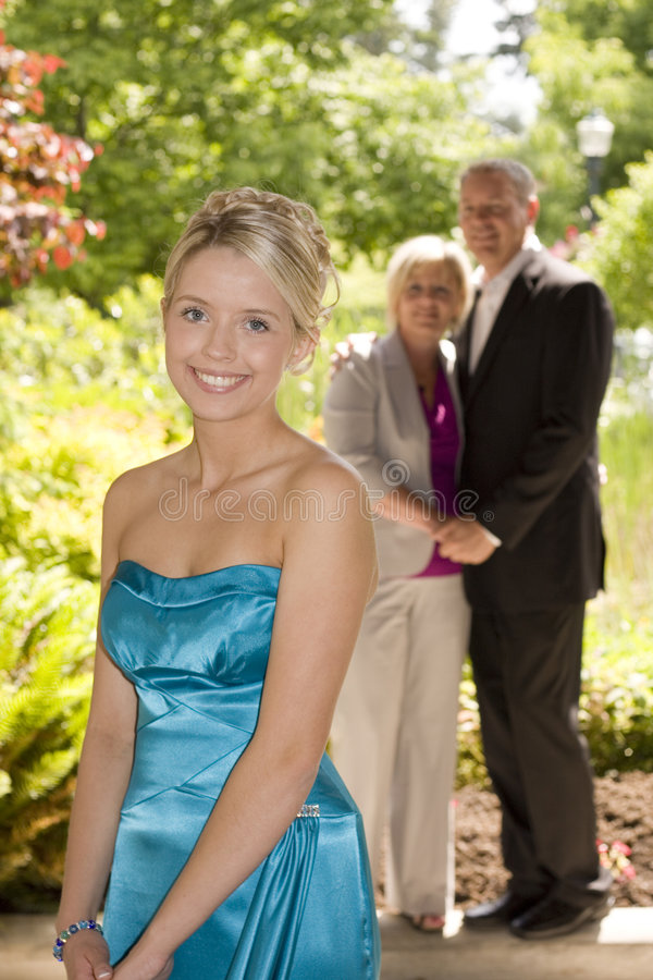 Download Proud parents. stock photo. Image of gown, high, daughter - 5537264