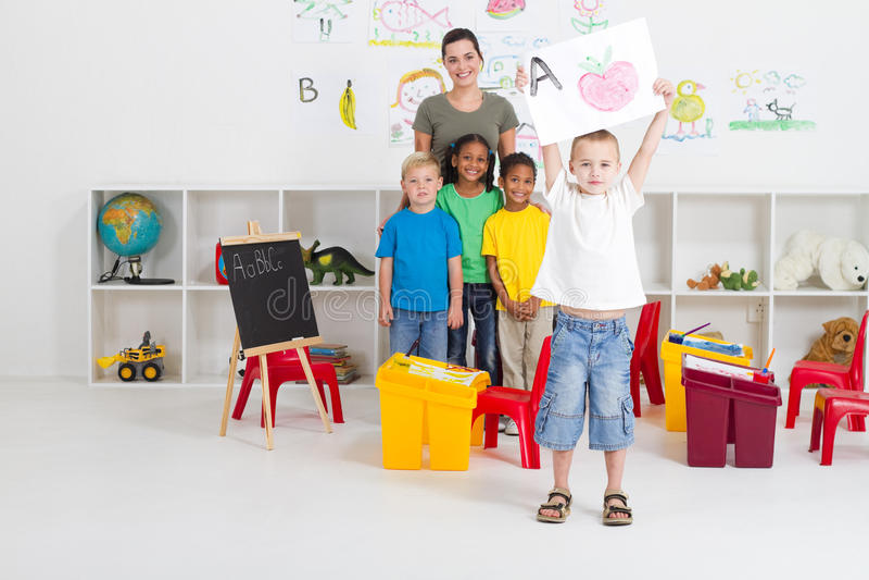 Proud preschooler royalty free stock photos