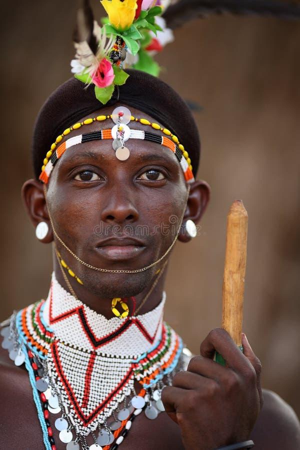Free Proud Samburu Warrior In South Horr, Kenya. Royalty Free Stock Image - 50244036