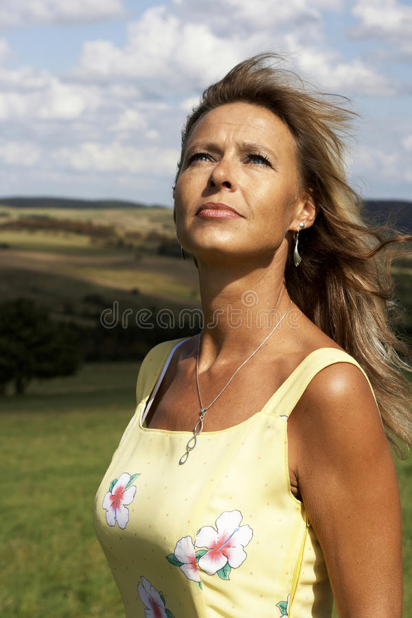 Proud woman stock photography