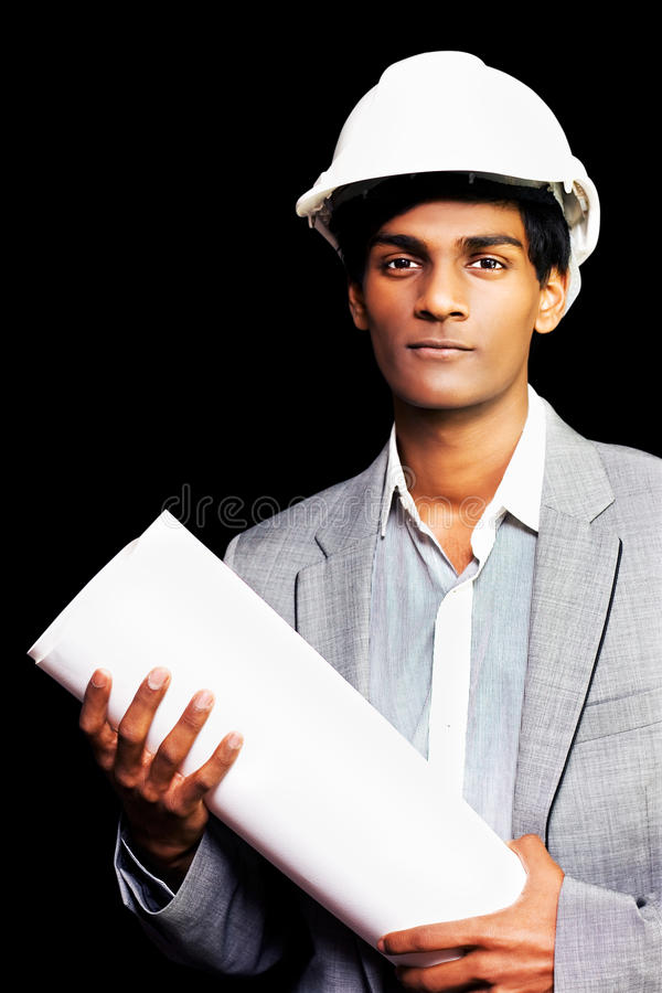 Proud Young Architectural Student Or Engineer Royalty Free Stock Photography