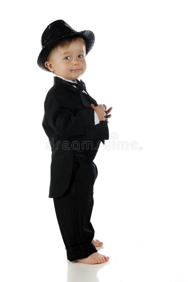 Download Proudly Tuxed stock photo. Image of male, child, black - 31339216