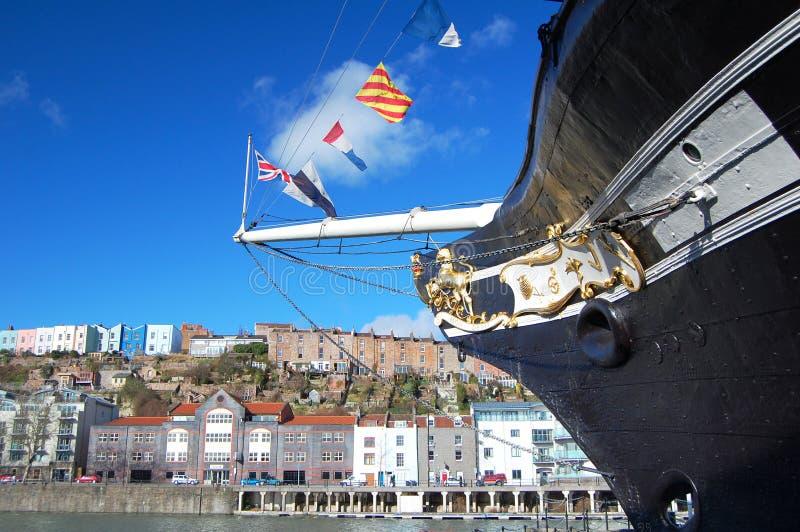 Proue Bristol de la Grande-Bretagne images libres de droits