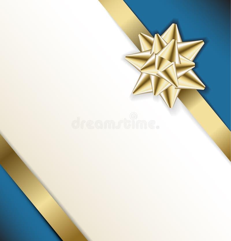Proue d'or sur une bande illustration stock