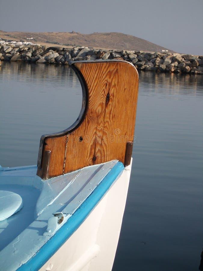 Proue de bateau de pêche image stock