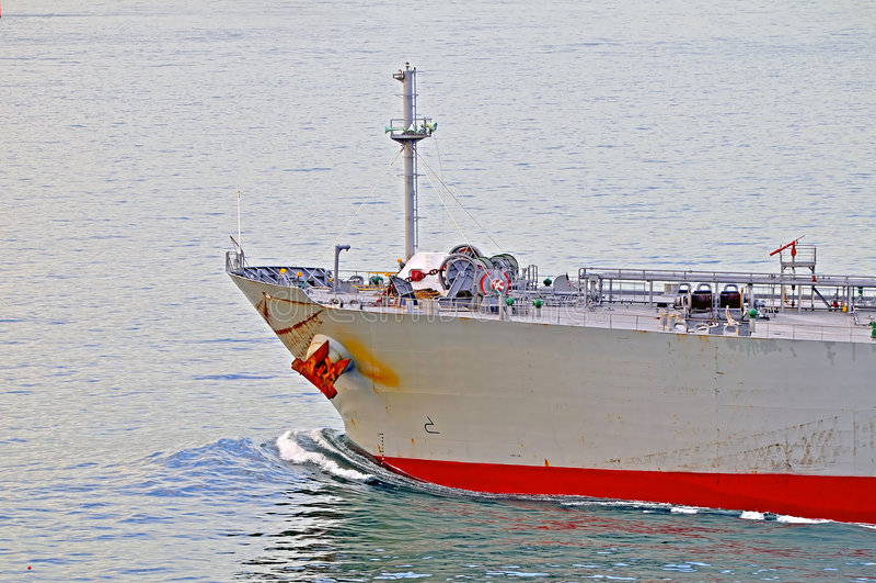 Proue de pétrole brut Ca de camion-citerne images stock