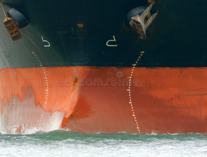 Proue de pétrolier photographie stock libre de droits