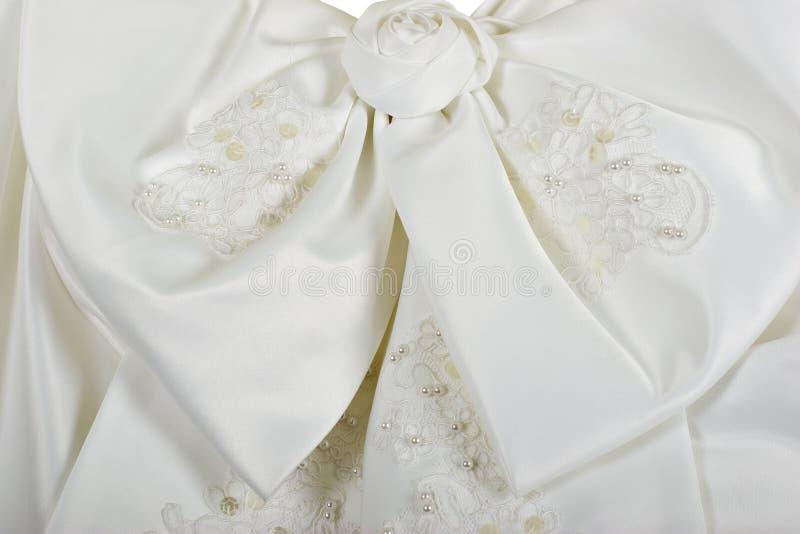 Proue de robe de mariage image stock