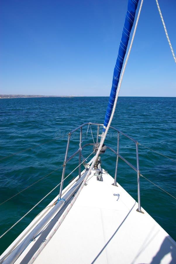 Proue de yacht images stock
