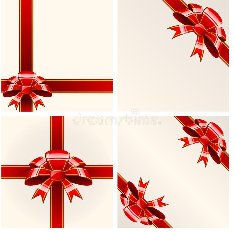Proue rouge avec des bandes illustration de vecteur