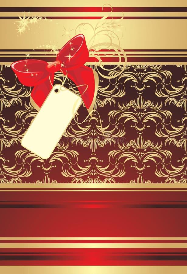 Proue rouge avec la carte sur le fond décoratif illustration de vecteur