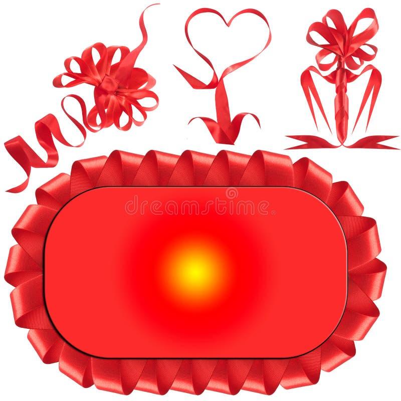 Proue rouge, cadeau, la récompense. photo libre de droits
