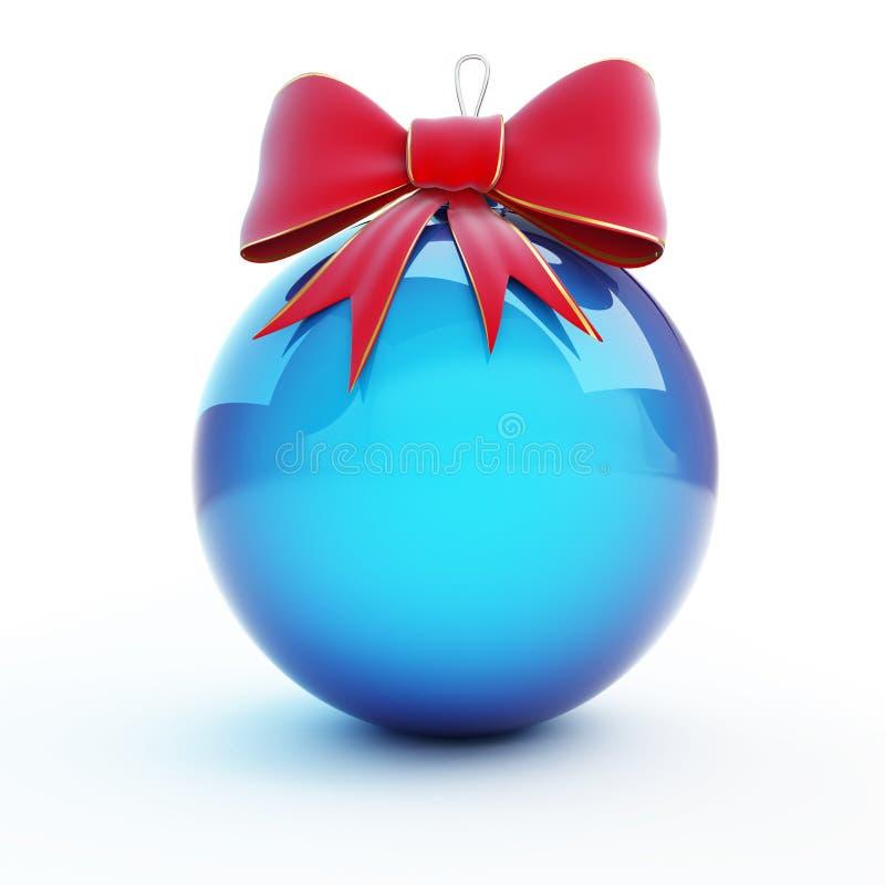 Proue rouge de bille en verre de Noël illustration stock