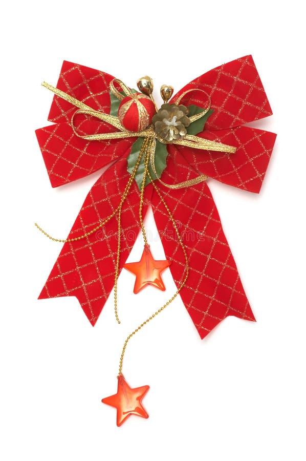 Proue rouge de Noël photographie stock