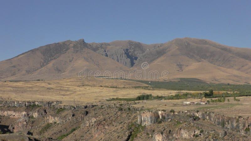 Província de Armênia, Aragatsotn Cores do outono dos campos perto de Aramoun imagem de stock
