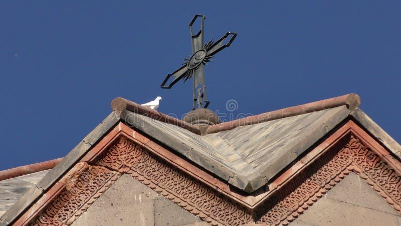 Província de Armênia, Aragatsotn Cores do outono do monastério de Ohanavank fotografia de stock royalty free