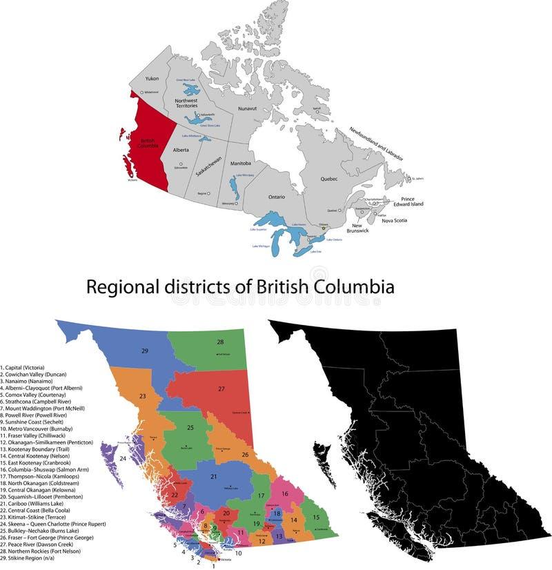 Província de Canadá - Columbia Britânica ilustração royalty free