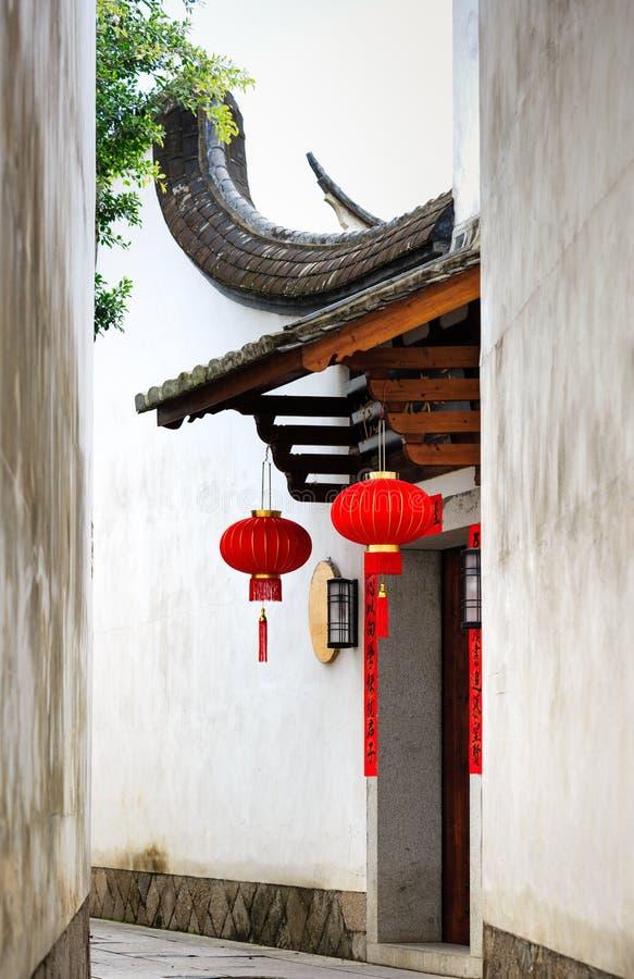 Província de Fuzhou, Fujian, China 6 DE MARÇO DE 2019: a área histórica e cultural famosa em Fuzhou imagens de stock
