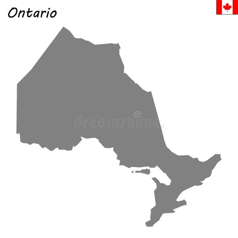 província do mapa de Canadá ilustração do vetor