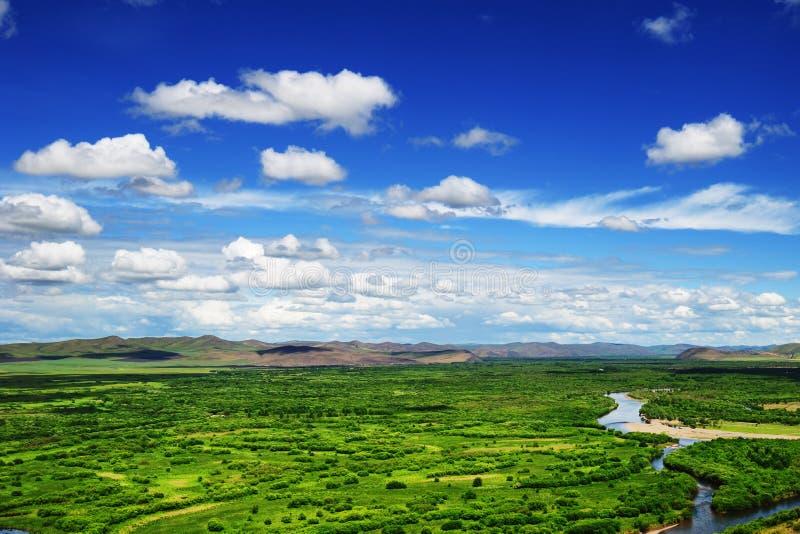 Província do pantanal do Gen, Mongolia, China imagens de stock