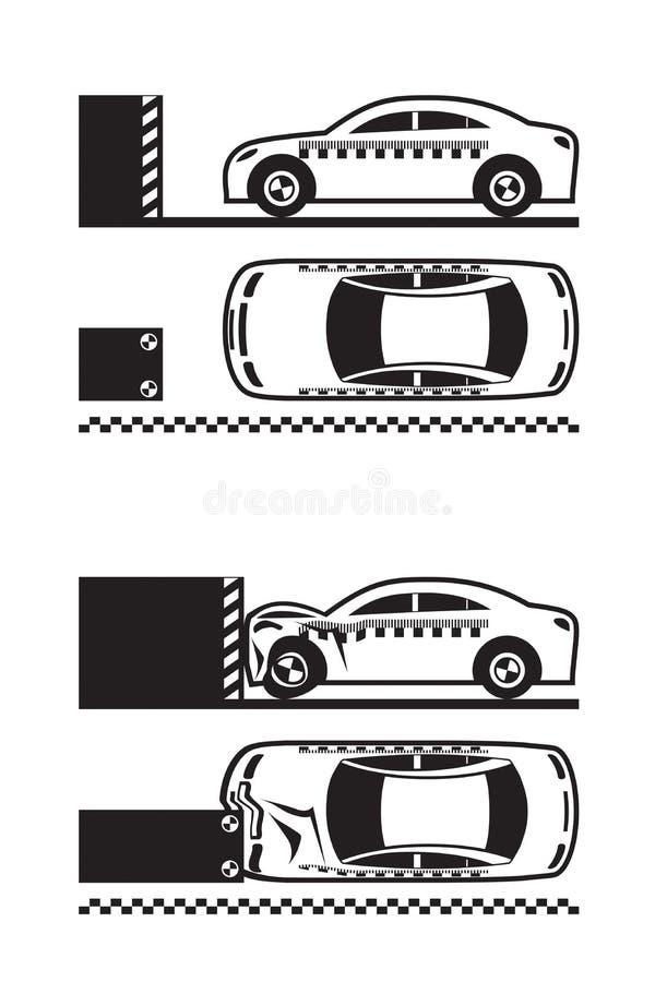 Prov för bilkrasch stock illustrationer