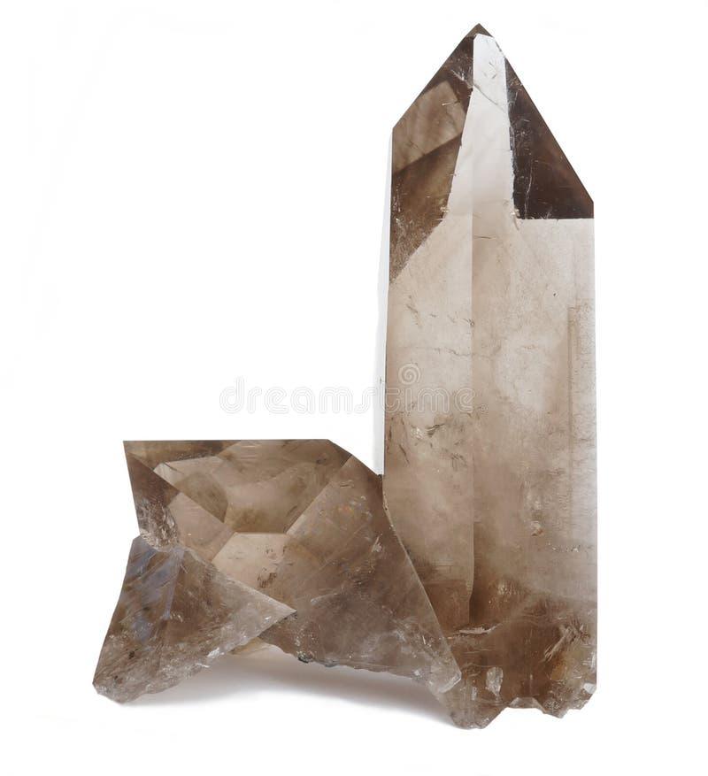 Prov för kristaller för rökig kvarts arkivbild