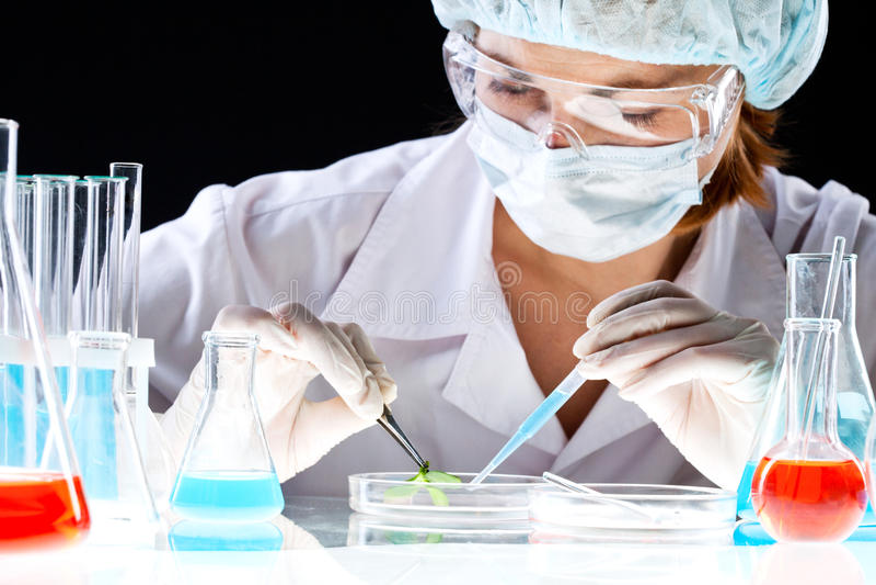 Prova biochimica fotografie stock