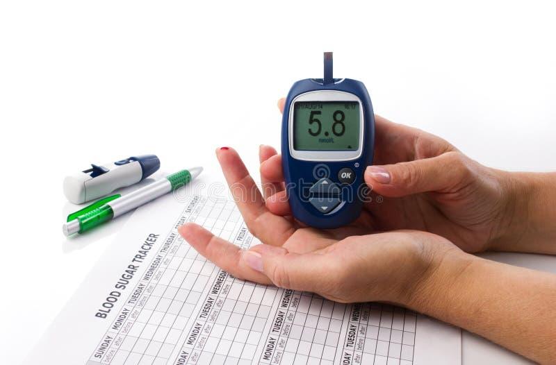 Prova del diabete immagini stock