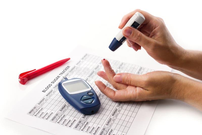 Prova del diabete immagine stock libera da diritti