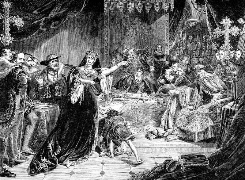 Prova di Catherine Of Aragon illustrazione vettoriale