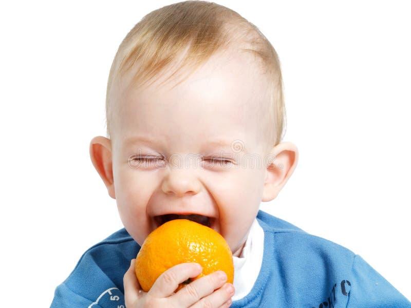 Prova di mordere arancio immagine stock libera da diritti
